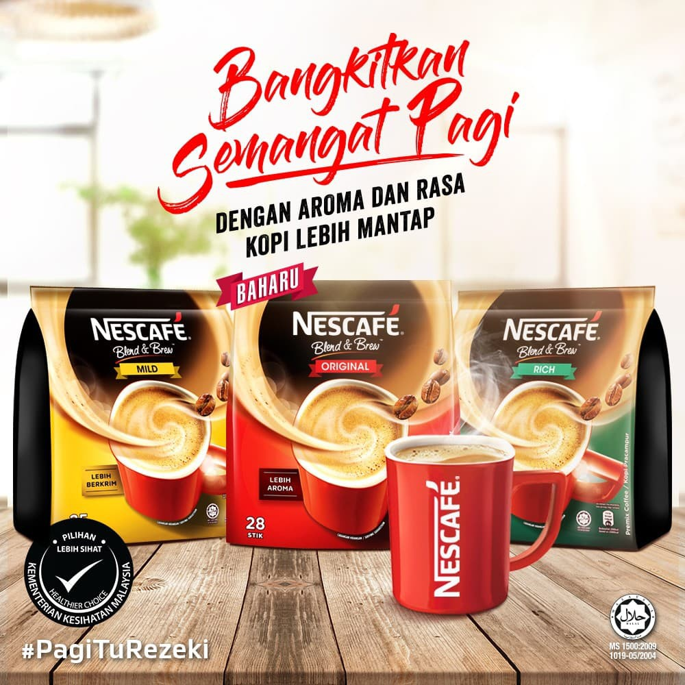 Nescafe Blend and Brew Original/ Rich/ Mild (19g x 28sticks & 25 sticks)