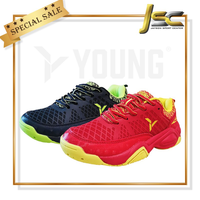 YOUNG STARTER EDITION II BADMINTON SHOES[JUNIOR]-(RED.YELLOW/NAVY.NEON GREEN) [100% AUTHENTIC YOUNG PRODUCT]