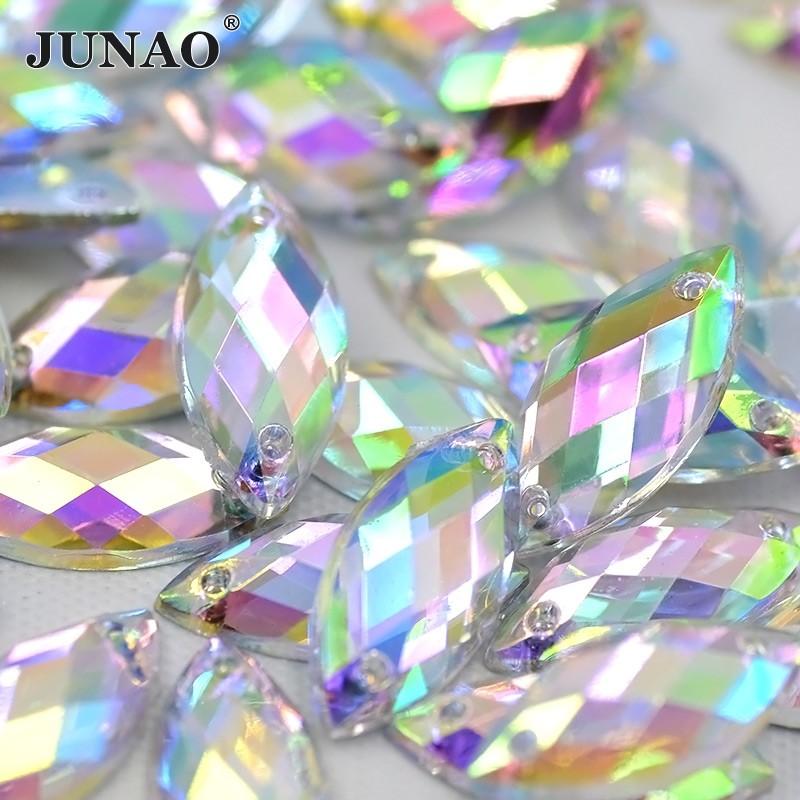 10mm Sewing Mix Color Round Rhinestones AB Crystal Stones Flatback Acrylic  Gems  dc6b482f2dec