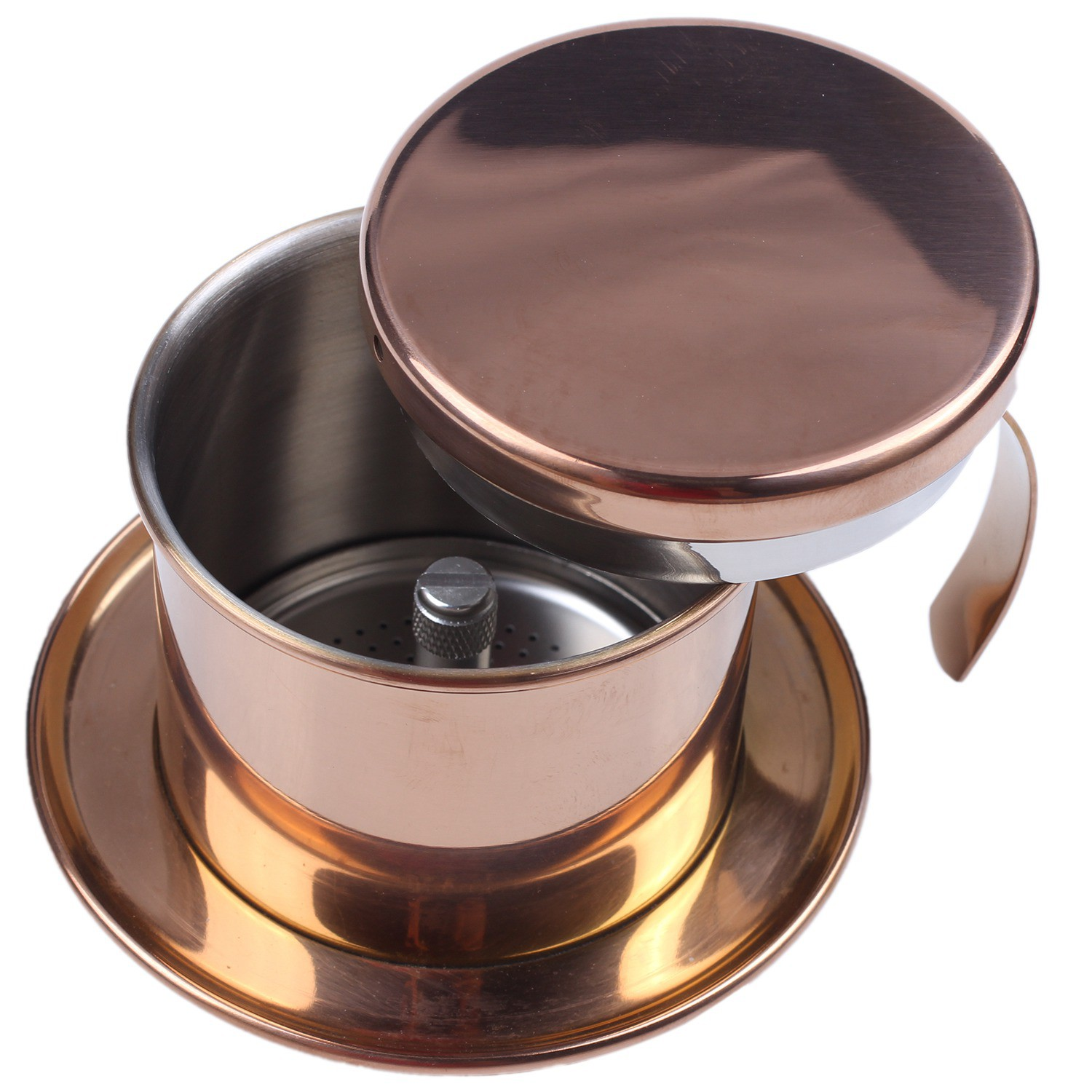 Stainless Steel Vietnamese Coffee Filter Single Cup Vietnam Hand Punch Pot Drip Filter Coffee Pot Vietnamese Coffee Pot Drip Filter Cup Family Outdoor Use Rose Gold Shopee Malaysia