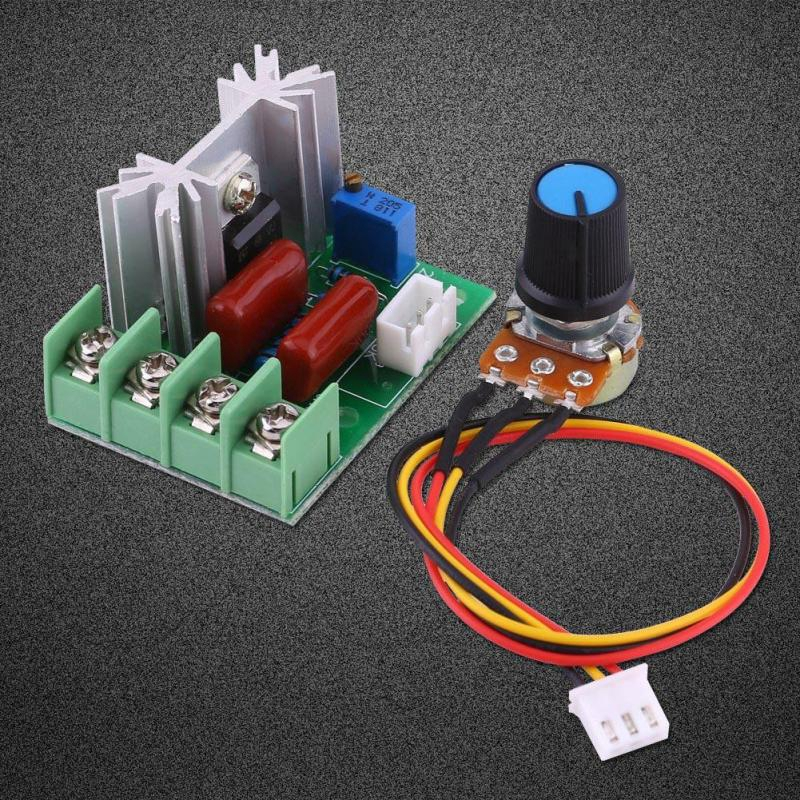 Voltage Regulator AC 50-220V 2000W SCR Electric Voltage Regulator Temperature//Motor Speed Controller Light Dimmer for Electric Stoves//Water Heaters//Lamps//Speed Controller