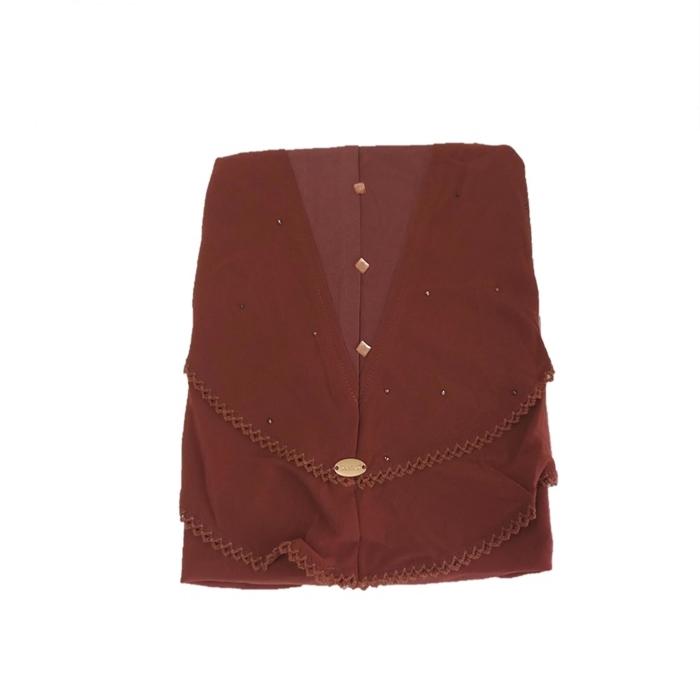 MALAYSIA: TUDUNG SARUNG / Fully Instant Shawl Two Layer Full Cover Inner Muslim Head Wear Slip On Shawl