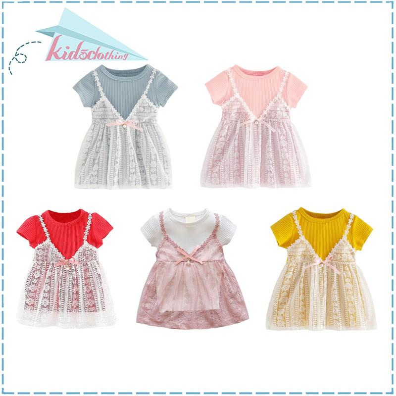 f3392b6f39fea Summer Baby Girls Dress Newborn Baby Cute Dress 0-2Y
