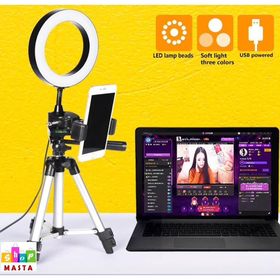 Lampu Selpie Led Selfie Lamp 20cm Ring Light Live Photo Studio Light For Smartphone Tripod L Usb