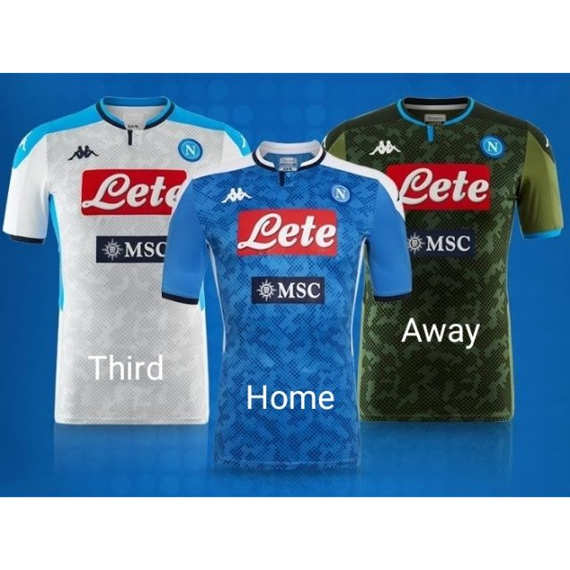 Top Quality Napoli Home Away Third Jersey 2019 20 High Quality Shopee Malaysia