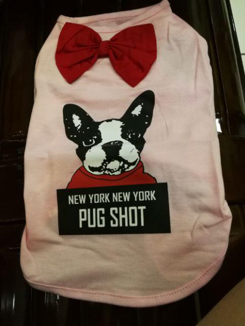 5ed89324ebe84 Pet Dog Puppy Thin Vest Bowtie Puppy Dog Clothes French Bulldog ...
