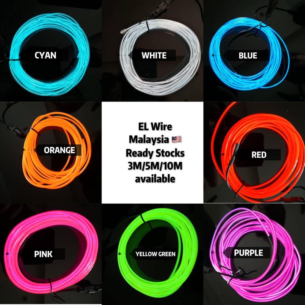 [Ready Stock] 3 meters EL wire neon light