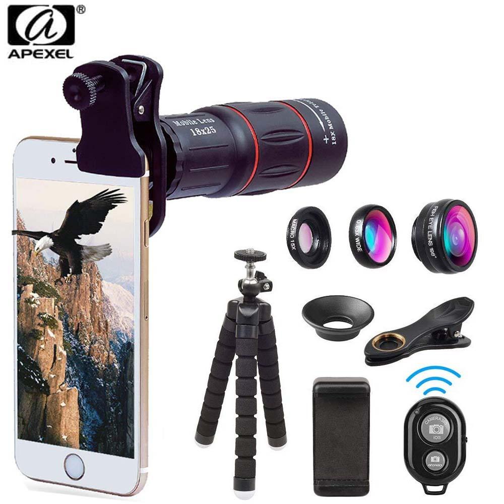 Apexel Multifunction Cellphone Lens Kit for Smartphone( APL-T18XBJZ5) vivo oppo