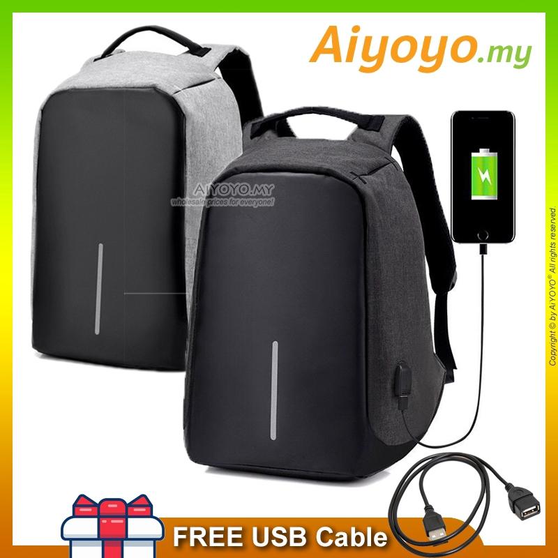 Anti Theft USB Charging Port Laptop Backpack Bag Travel Camera Water Resistant Rucksack Multifunction College Business L