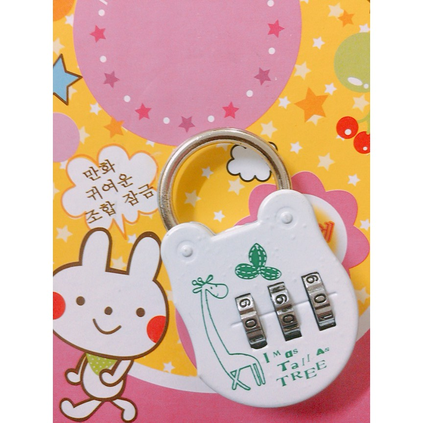 Lovely Cartoon 3 Numbers Alloy Password Traveling Lock Luggage Drawer Cabinet Security Padlock Premium Quality HL114