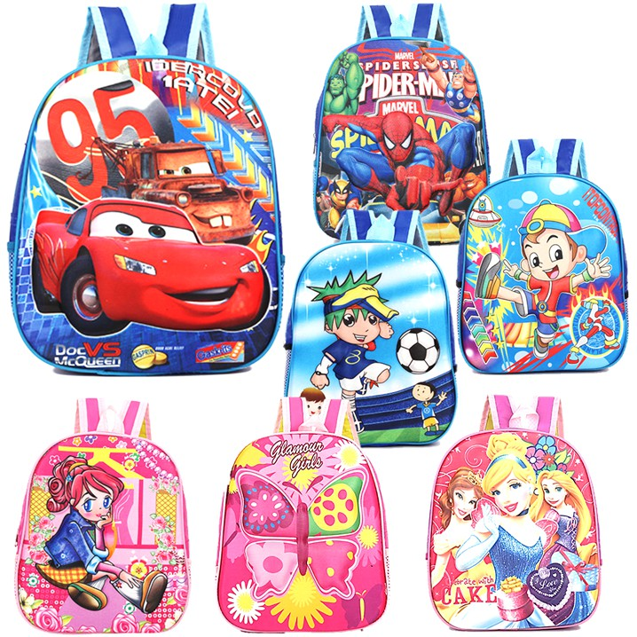 SALECartoon Kids Casual School Bag Backpack Shoulder Bag Soft Handbag Kindergarten Beg