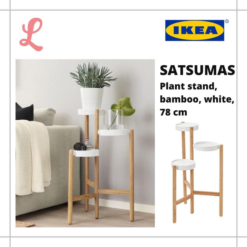 Satsumas Plant Stand Bamboo White 78 Cm Shopee Malaysia