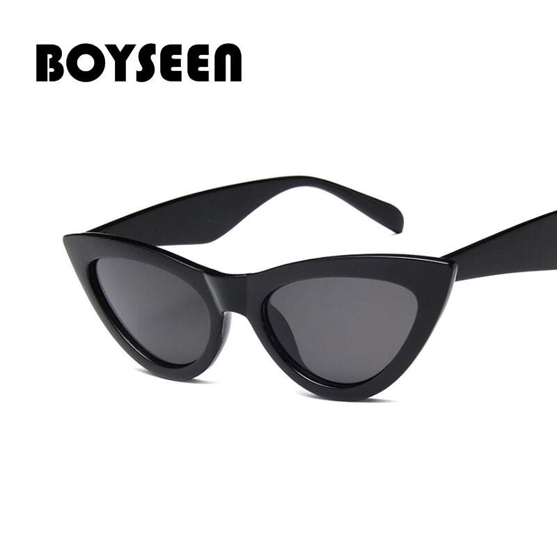 ae21637c403e BOYSEEN fashion cat eye sunglasses women black sun glasses female uv400  15984 | Shopee Malaysia