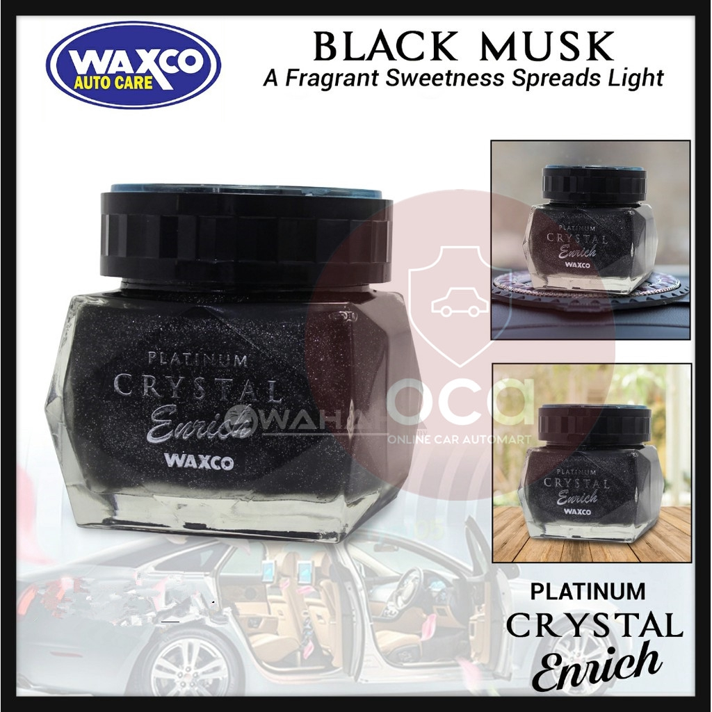 WAXCO Car Perfume Platinum Crystal Enrich Essence Black Musk 85ML-(Buy More Get More Discount)