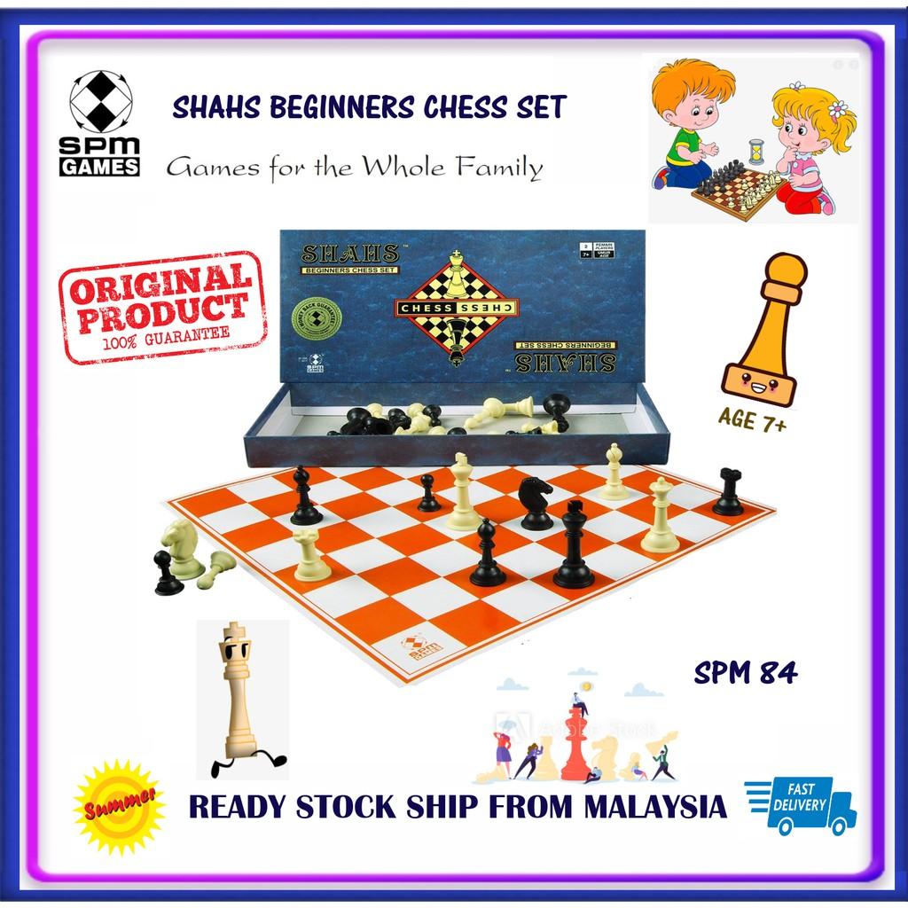 [SPM GAMES] SPM 84 SHAHS Beginners Chess Set - SPM84 Board Games Original
