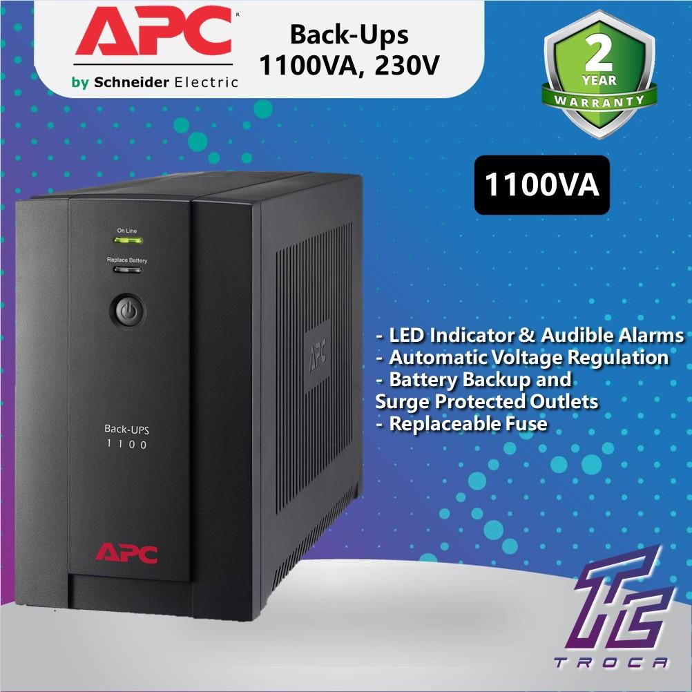 APC Back-Ups 1100VA BX1100LI-MS AVR Battery Backup&Surge Protector for  Computers