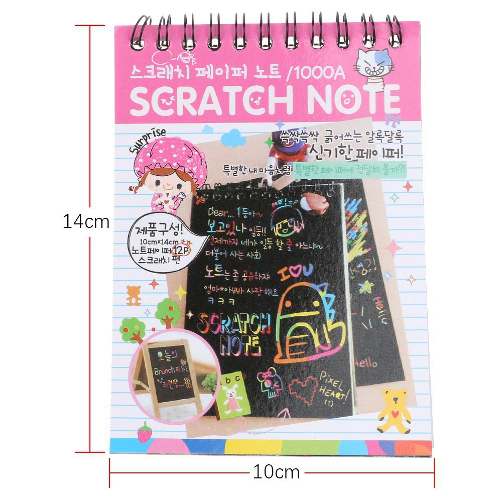 100% True 2019 New Kawaii Unicorn Notebook Note Black Cardboard Creative Diy Draw Notes For Kids Toy Memo Pad Material School Supplies Notebooks