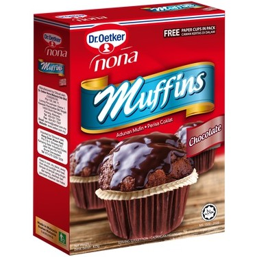 Dr.Oetker Nona Muffins - Chocolate Flavour @ 425g ( Free Fragile + Bubblewrap Packing )