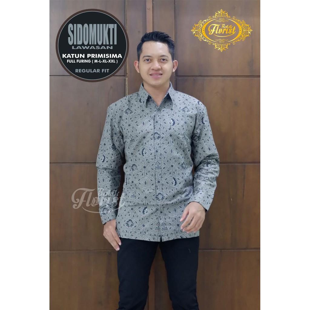 Sidomukti LAWASAN Batik Shirt Men Long Sleeve Furing Batik Primisima Batik Solo Batik