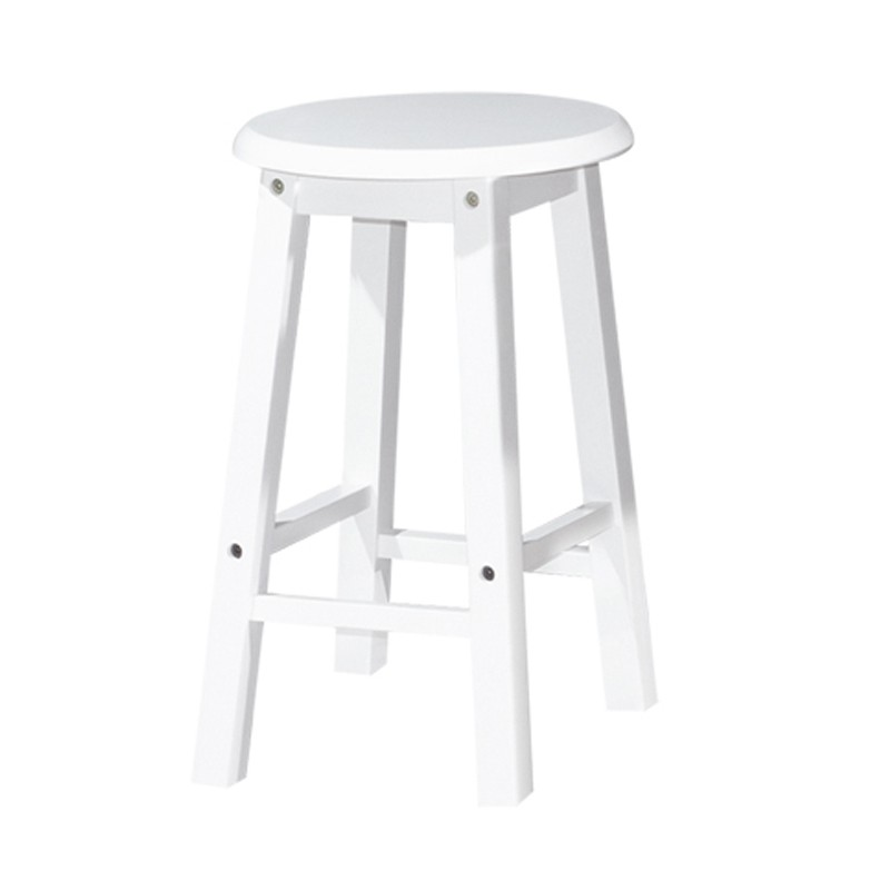 Furniture Direct POLO 18″ FULL SOLID WOODEN STOOL-4 COLOURS