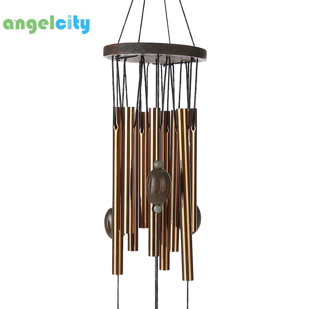 Wind Chimes Metal Tubes Garden Outdoor Living Heart Decor Windbells