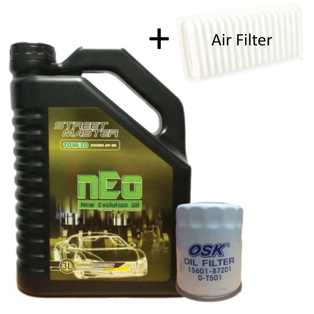 ENGINE OIL nEo 10W30 3 Litre Special For Perodua Kenari + Perodua Oil Filter   Shopee Malaysia