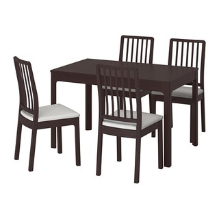 d76a25a6570 IKEA EKEDALEN   EKEDALEN TABLE + 4 CHAIRS DARK BROWN ORRSTA 120 180 ...