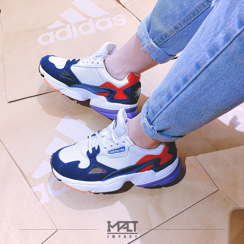 nuevo baratas gama completa de especificaciones marcas reconocidas Adidas Originals Falcon Blue Red White Purple Powder Contrast Running Shoes  Retro Old Shoes | Shopee Malaysia