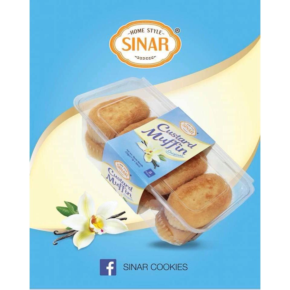 Sinar Custard Muffin Vanilla, Chocolate, Pandan, PIsang Harga Borong  Murah Sedap Gudis