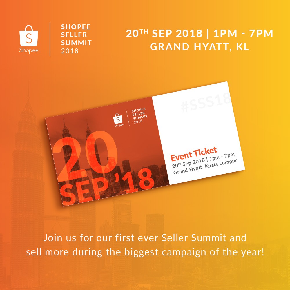 [Sold out] Shopee Seller Summit 2018 Entry Ticket   Shopee