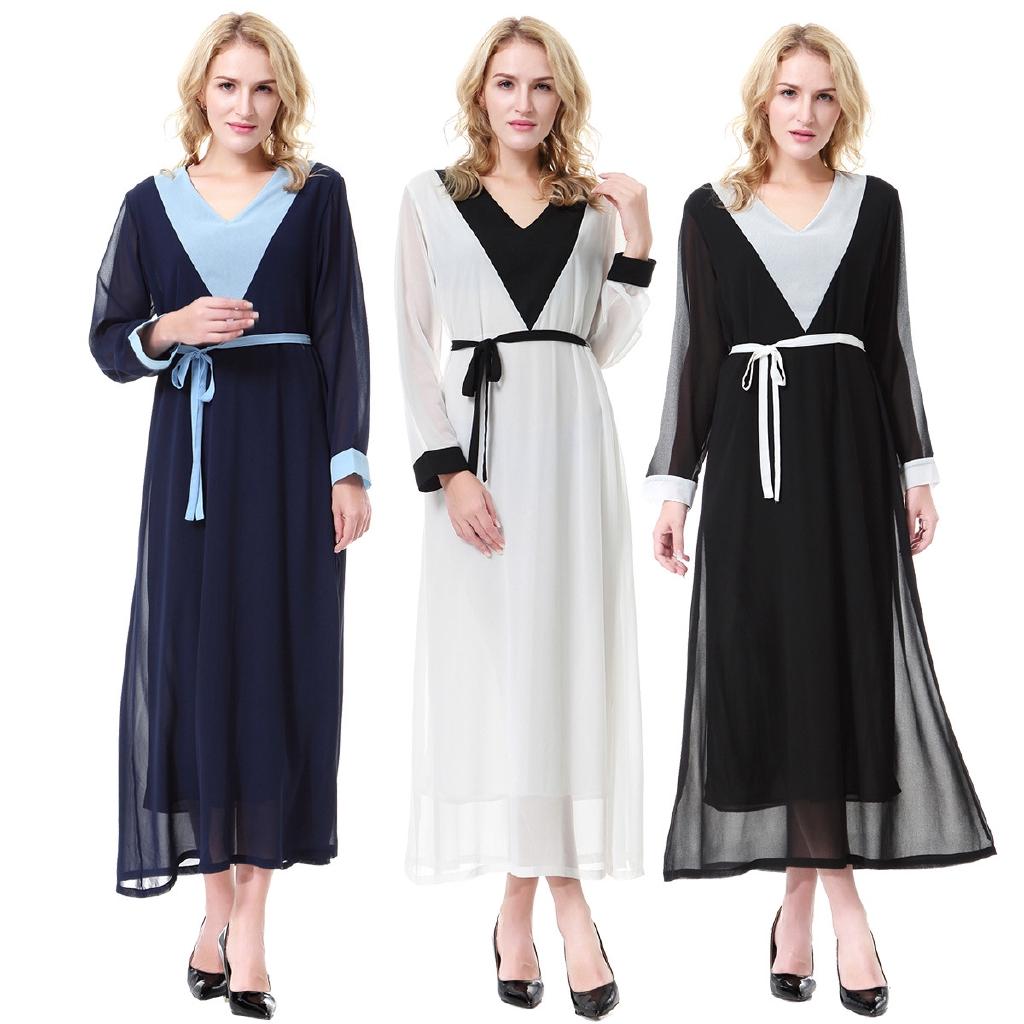 423d1adce79b4 Muslim Arab Middle East Dubai Saudi Malaysian Ladies Long Dress Dress