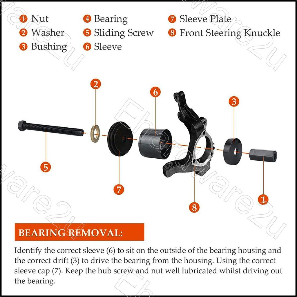 23Pc Wheel Bearing Removal /& Installation Tool Kit Universal Front Wheel Drive F