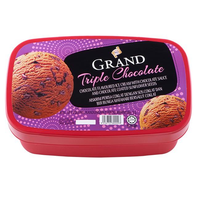 F&N King's Grand Triple Chocolate Ice Cream 1L