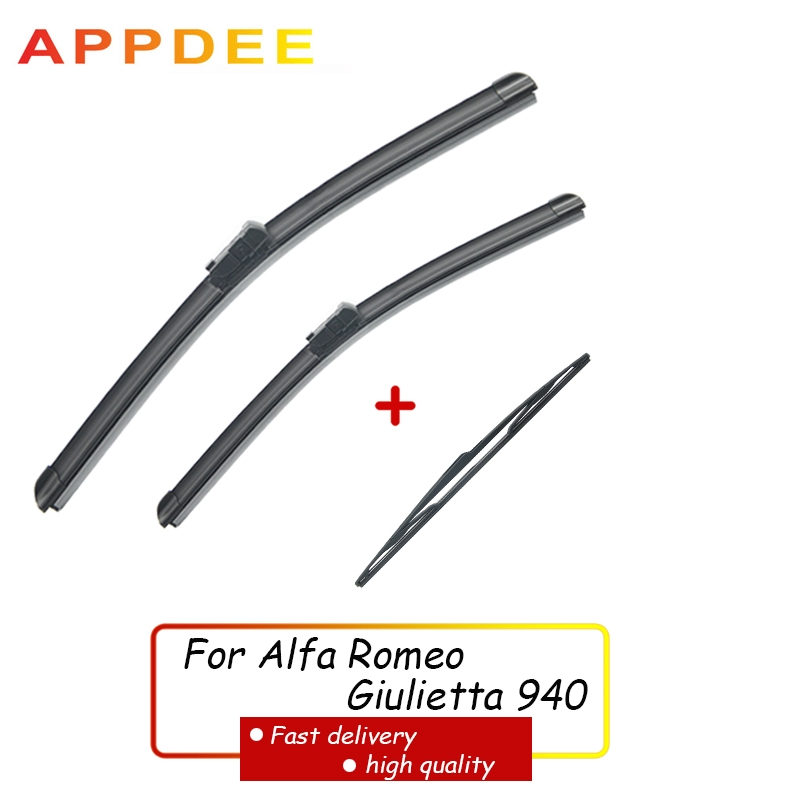 Front & Rear Wiper Blades Set For Alfa Romeo Giulietta 940 2010 2020 2019 24