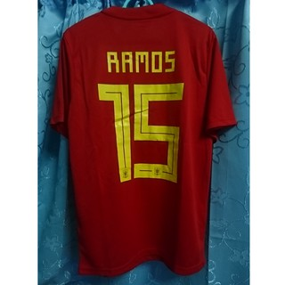 huge discount 7c2d6 eae76 SERGIO RAMOS SPAIN HOME JERSEY & PANTS 2018 WORLD CUP ...