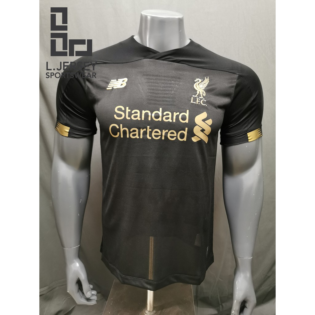 Liverpool Men Goalkeeper Home Black Season 19/20 Fans Jersey