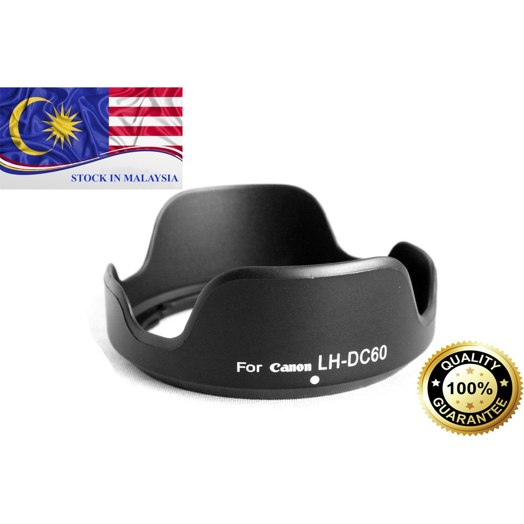Lens Hood For Canon PowerShot SX30 SX20 SX10 SX1 LH-DC60 (Ready Stock In Malaysia)