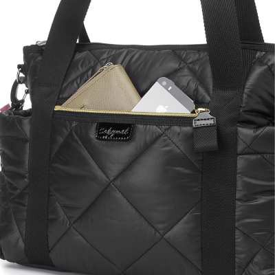 Babymel: Cara Ultra Lite Diaper Bag - Black Quilt
