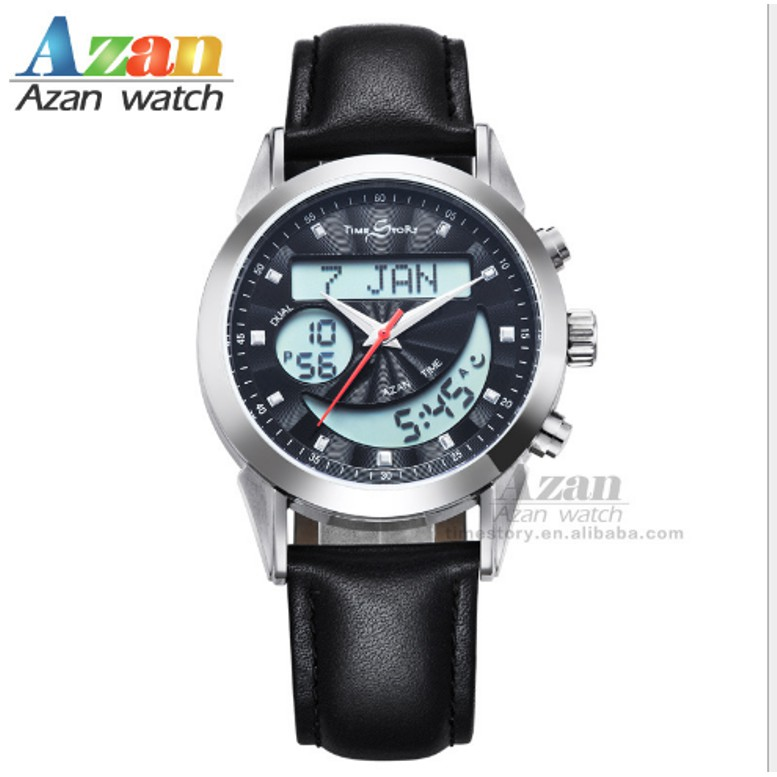 Digital Watches Watches Waterproof Sport Watch With Prayer Alram And Hijri 6506 Azan Clock With Automatic Qibla Direction And Stopwatch