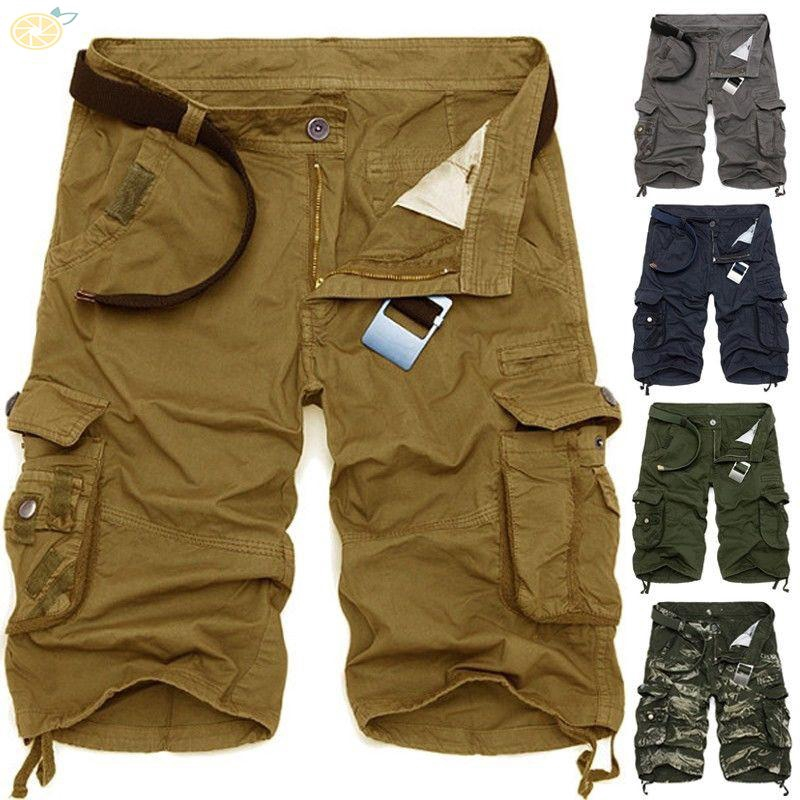 Mens Baggy Combat Camo Cargo Pants Leisure Straight Outdoor Pocket Trousers E130