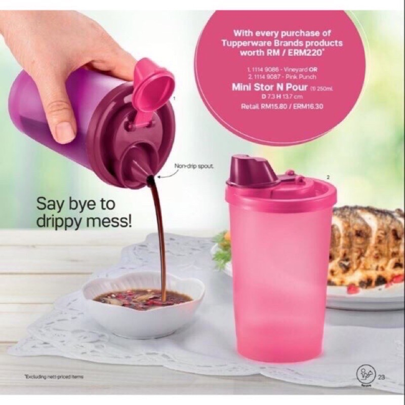 Tupperware mini stor and pour