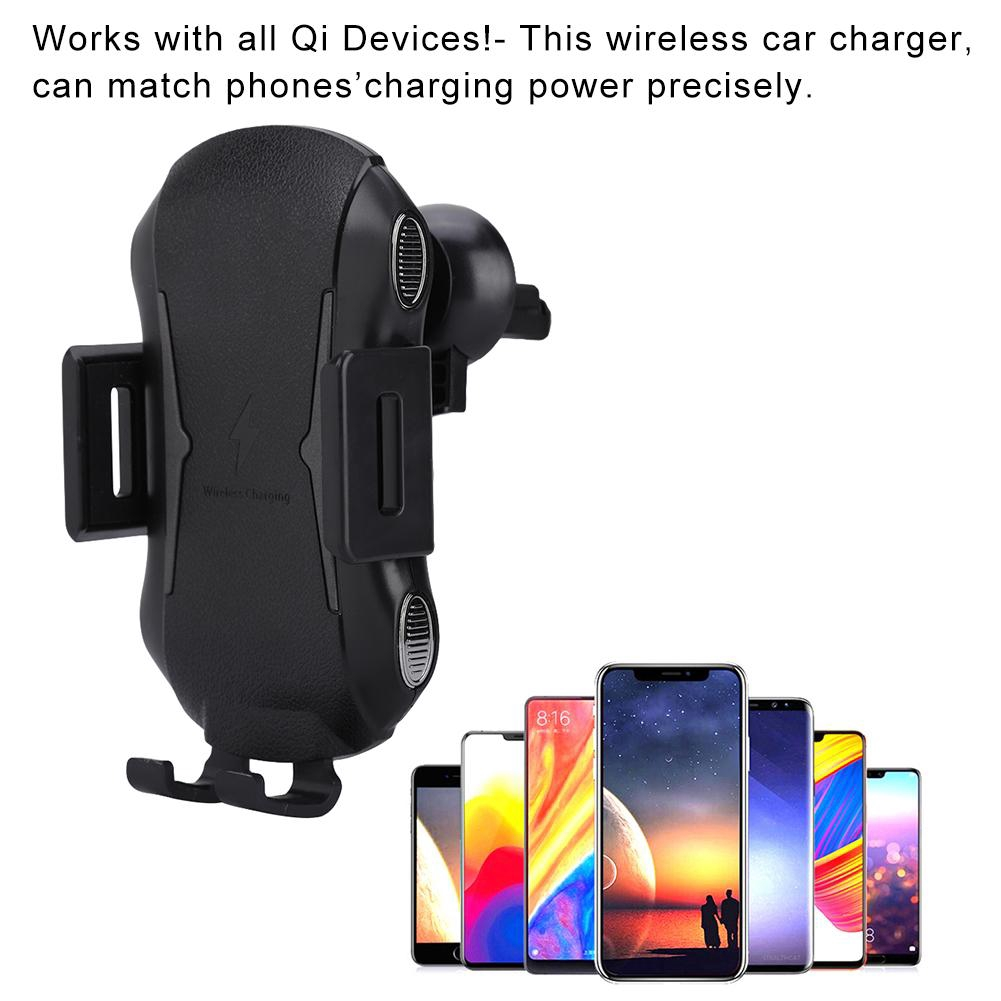 Automatic Holder Charger Phone Pad Car 10W Charging Wireless Clamping Quick