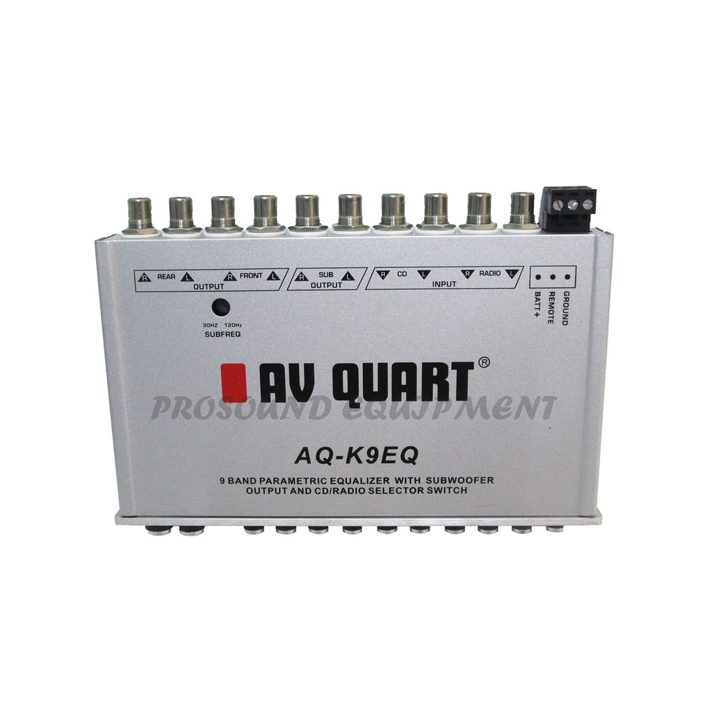 AV QUART 9 BAND EQUALIZER (AQ-K9EQ) CAR AUDIO SYSTEM