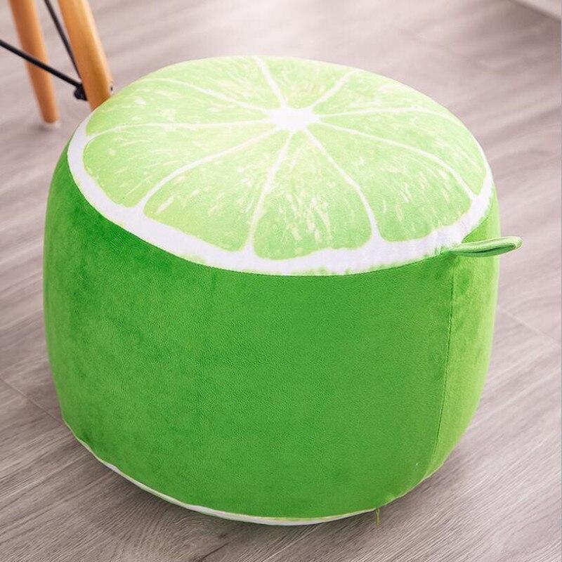 Fruit cartoon Plush inflatable seat seat sofa thickened folding stool gifts for children lemon