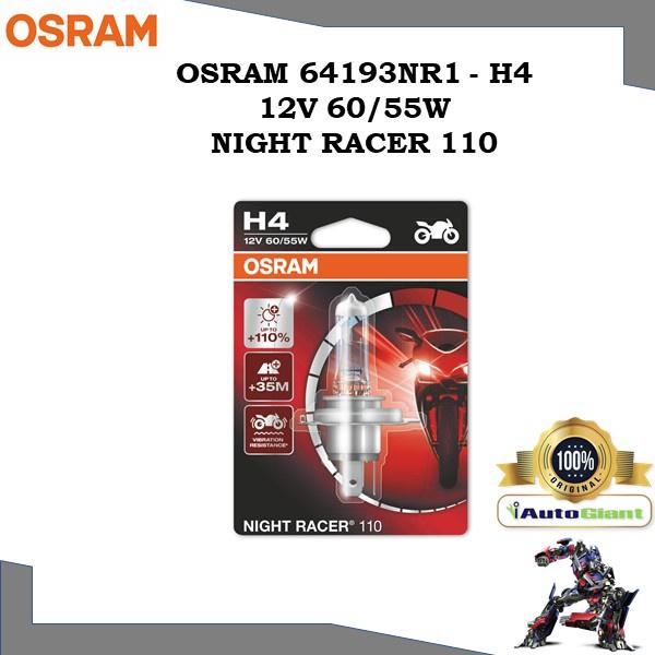 OSRAM 64193NR1 - H4 12V 60/55W NIGHT RACER 110 LAMPU DEPAN