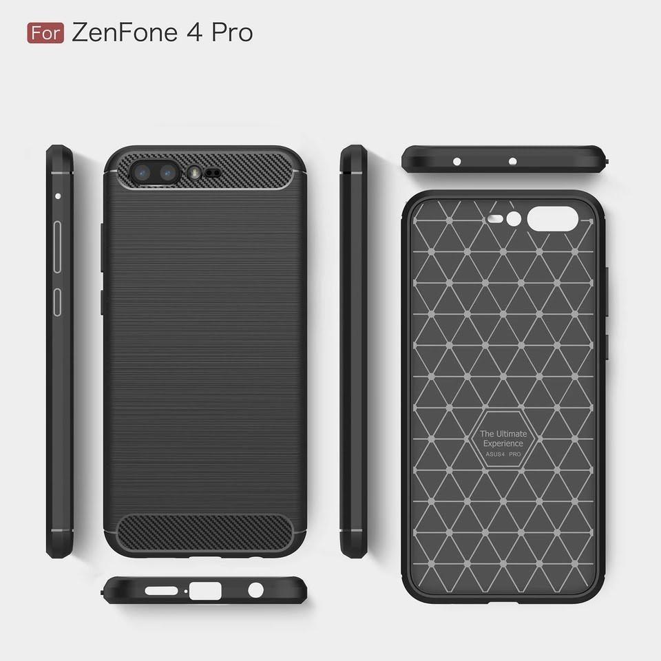 da38c4358 Asus Zenfone 4 Max ZC554KL Rugged Armor Carbon Style Case Casing Cover  Bumper