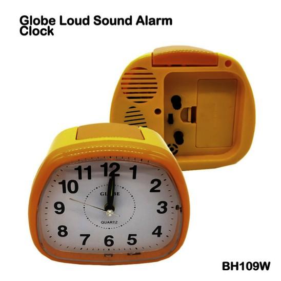 Globe Alarm Quartz Clock Loud Sound With Night Light BH109W