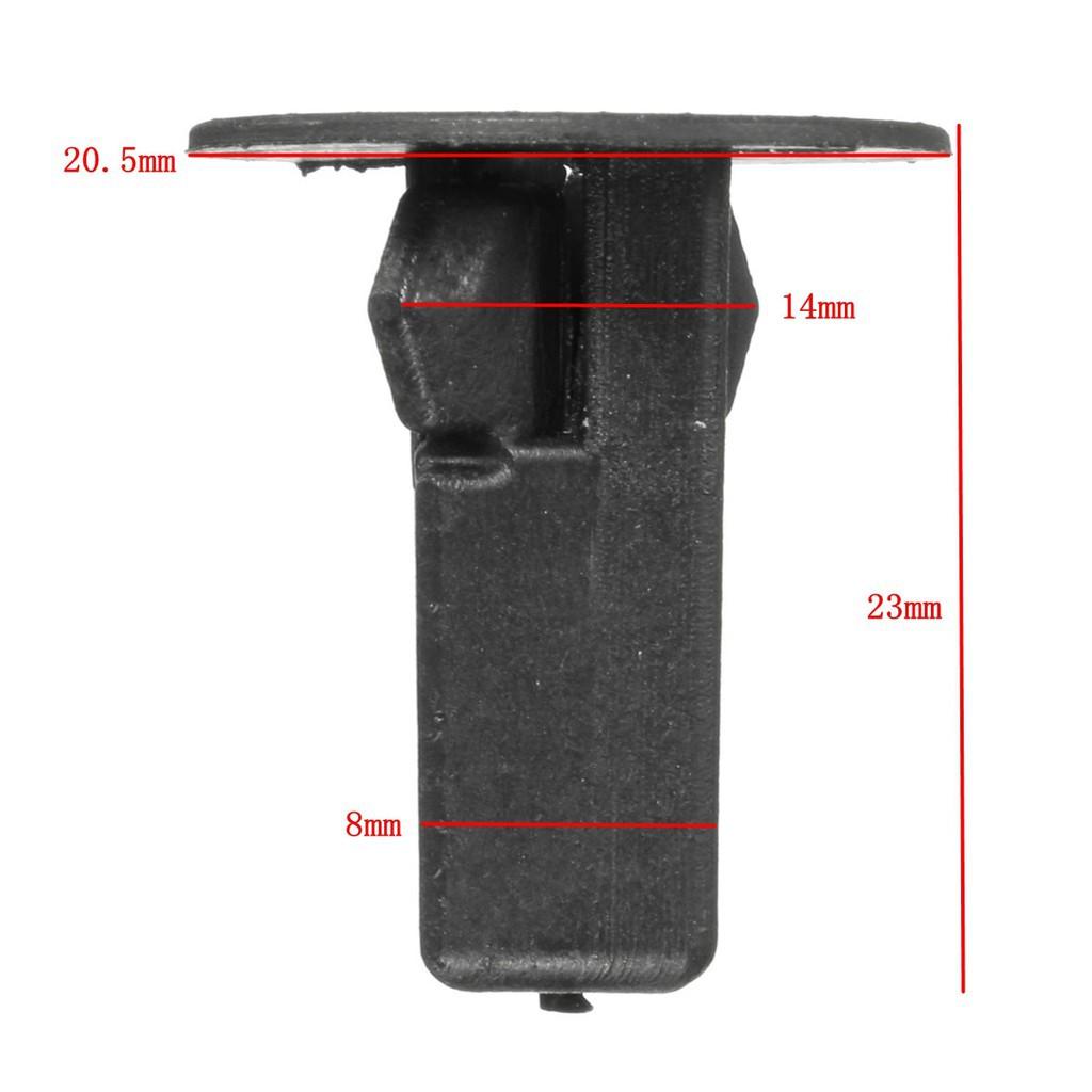 25pcs Push Rivets Trim Bump Panel Lock Nut Fastener Clips For Toyota Avensis