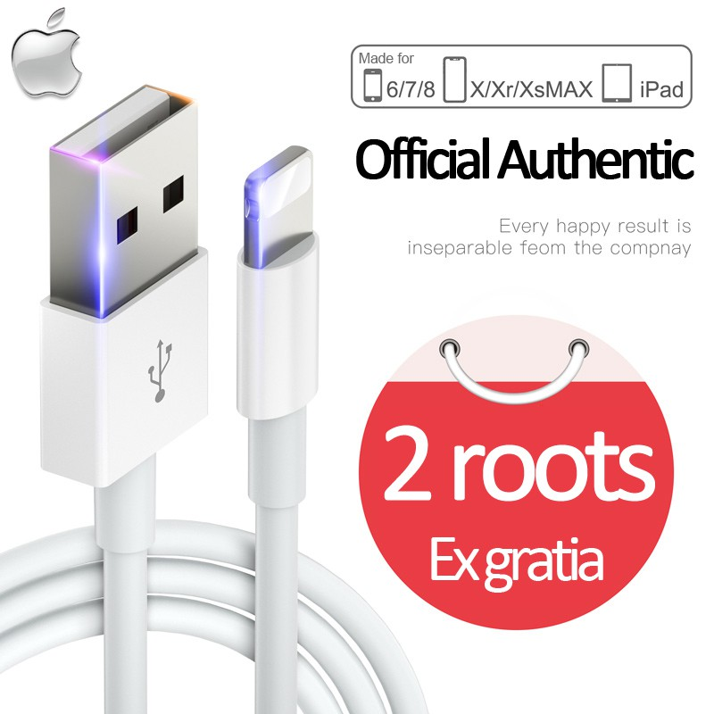(1 Year Warranty) Original IPhone Cable Lightning To USB For IPhone IPad