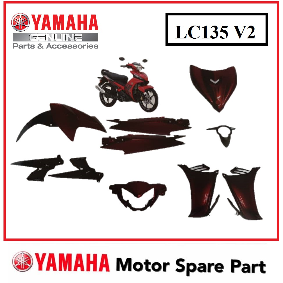 Yamaha Lc135 V2 Cover Set Coverset Bodyset Body Cover Set Cover Suit Hld